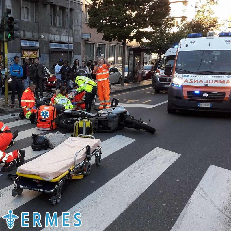 Accidente automovilístico y error médico